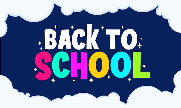 Simple and flat back to school back ground