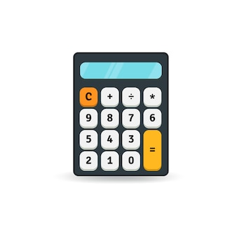 Simple flat calculator icon isolated on white background
