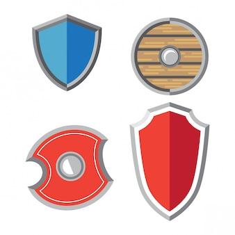 Simple flat shield set