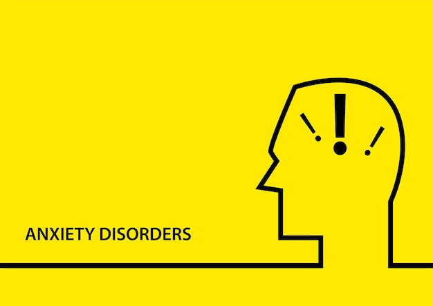 Simple flat vector illustration of anxiety disorder symbol