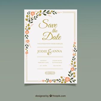 Simple flat wedding invitation