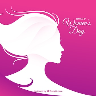 Simple flat women's day background