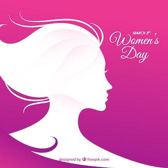 シンプルなフラットな女性の日の背景