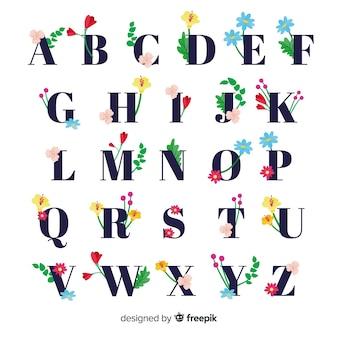 간단한 꽃 알파벳