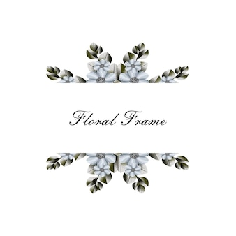 Simple floral frame background