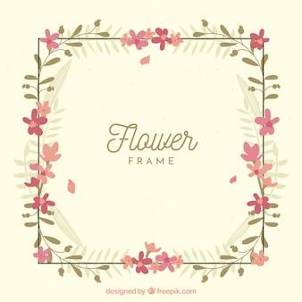 Simple floral frame