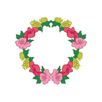 Простая цветочная корона