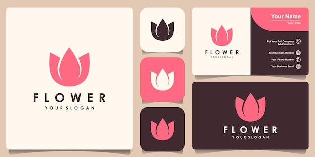 Простой цветочный дизайн логотипа лотоса