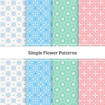 Simple flower patterns