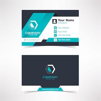 Simple folds shape business card design template