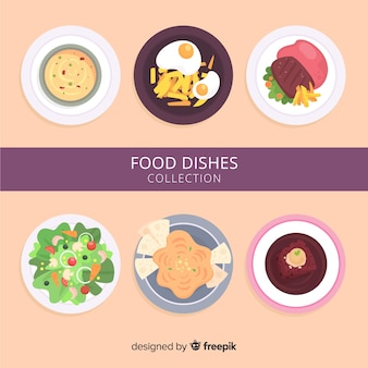 Simple food dishes collection