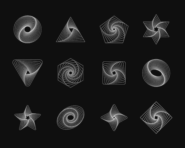 간단한 기하학적 추상 패턴 독특한 디자인을 위한 트렌디한 그래픽 요소입니다.