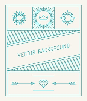 Simple and geometric background design
