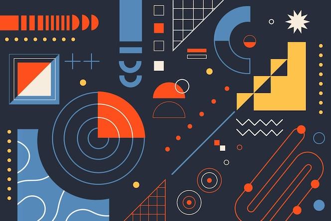평면 디자인의 간단한 기하학적 요소