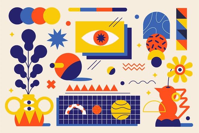 Простые геометрические элементы в плоском дизайне