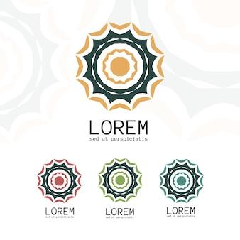 シンプルな幾何学的なロゴのテンプレート