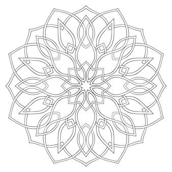 간단한 기하학적 만다라. 동양 장식입니다. 디자인 요소입니다. 스테인드 글라스 창용 템플릿입니다.