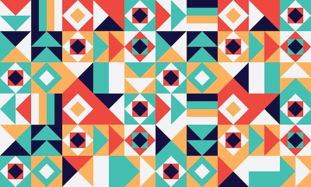 간단한 기하학적 완벽 한 패턴