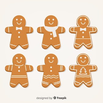 Simple gingerbread cookie collection