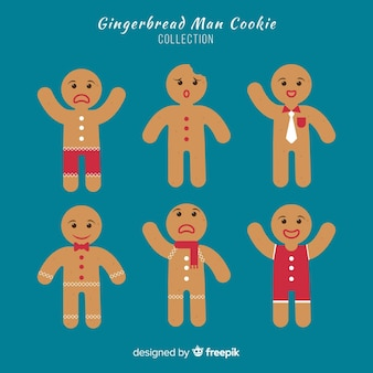 Simple gingerbread cookies collection