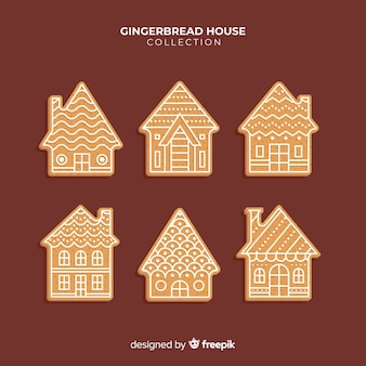 Simple gingerbread house collection