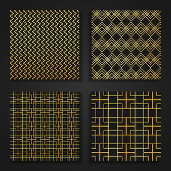 Simple gold oriental patterns