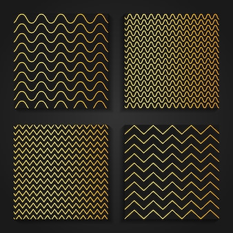 Simple gold zig zag oriental patterns.