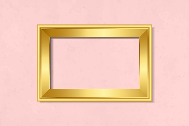 Simple golden frame on the wall