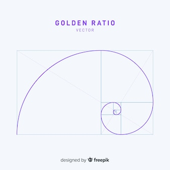 Simple golden ratio background