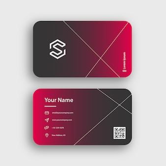 Simple gradient professional business card