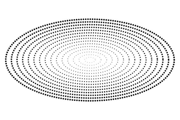 간단한 점진적 벡터 흑백 타원형 하프톤 흰색 절연