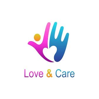 シンプルな手のロゴ