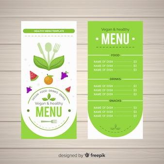 Simple healthy menu template