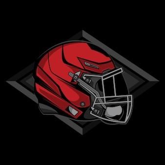 Простой шлем американский футбол