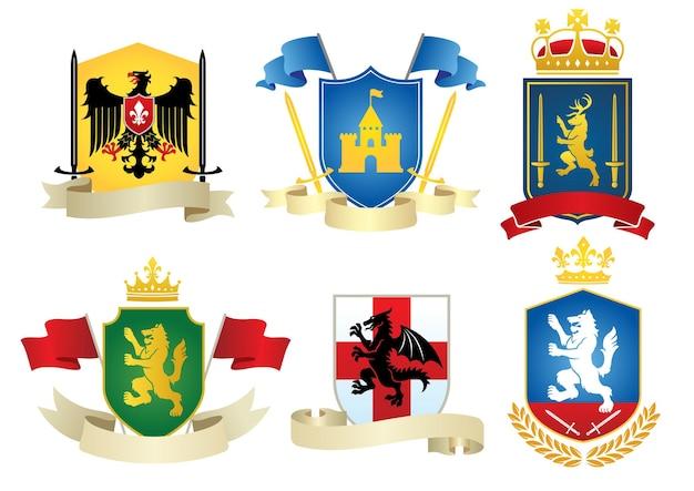 Simple heraldic set