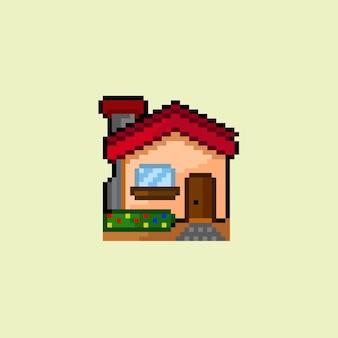 Простой дом в стиле пиксель-арт
