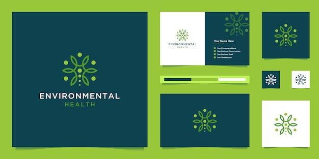 シンプルな人間の木のロゴライン。健康、環境に優しい、自然のシンボル。