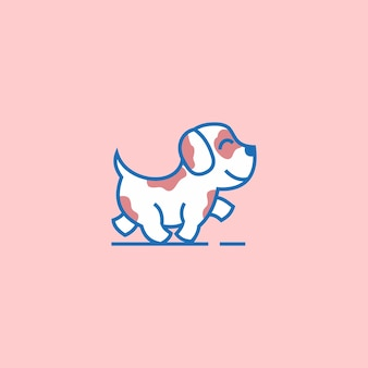 Simple icon logo of the dog