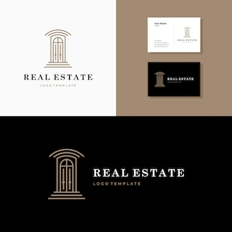 Simple iconic real estate logo design