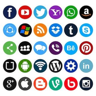 소셜 네트워크를위한 간단한 아이콘