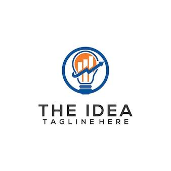 Simple idea logo template