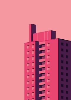 Простая иллюстрация жилого дома