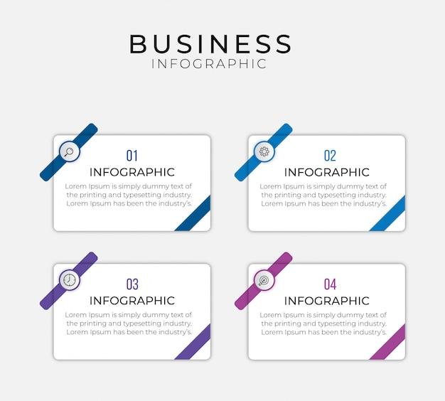 Простой инфографический шаблон дизайна. плоский рисунок для презентации, отчет.