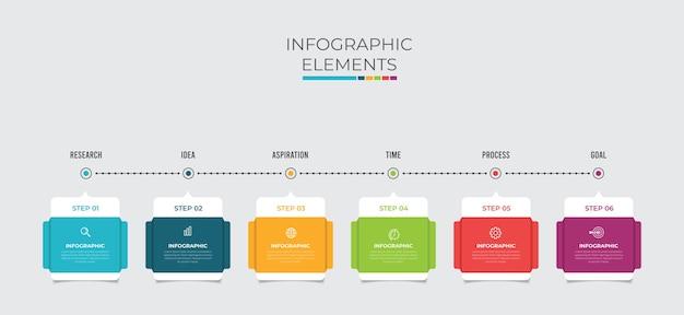 シンプルなインフォグラフィックデザインテンプレート。