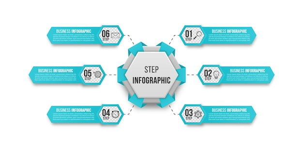 ビジネスプレゼンテーションのためのシンプルなインフォグラフィック