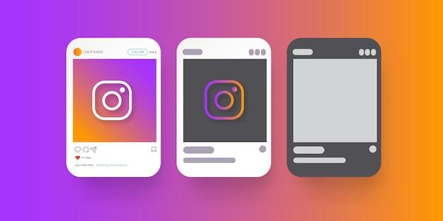 Простой шаблон дизайна рамки instagram