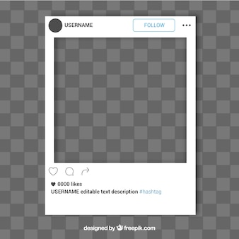 Simple instagram frame template