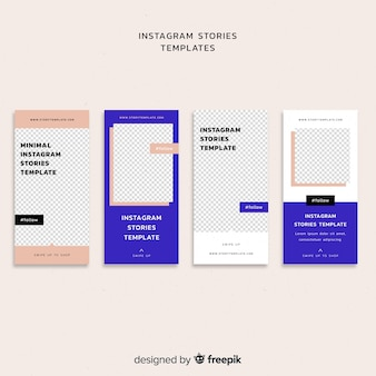 Simple instagram stories template