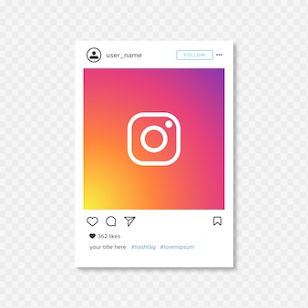 Simple instragram frame template