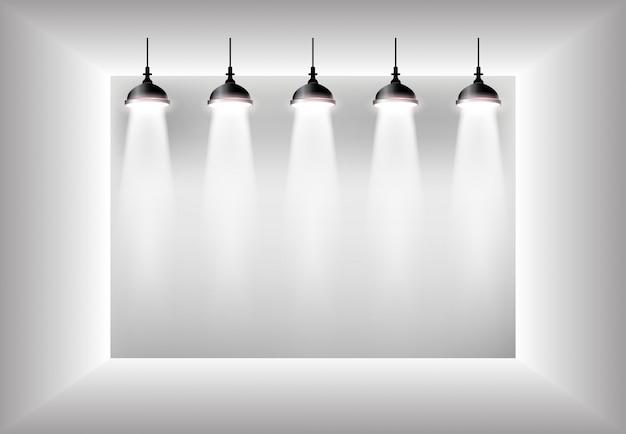Simple interior 3d illustration